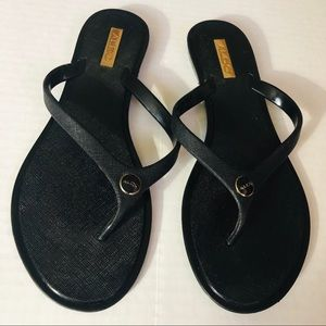 Aldo Black Flip Flops Sandals